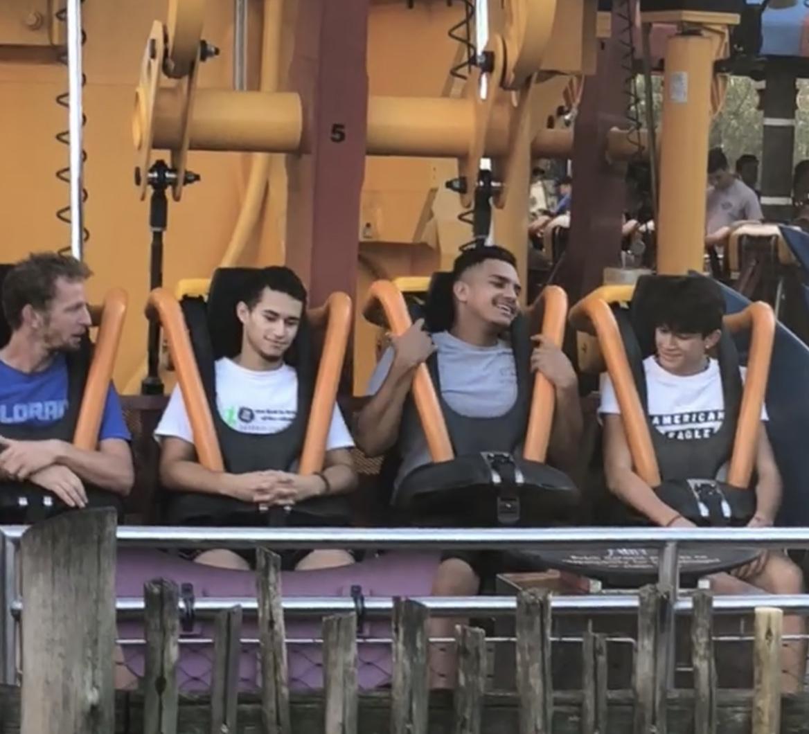 Senior, Jozaiah Cotto, was told to go on a roller coaster by Senior, Juan Viruet, and Junior, Javier Martinez.