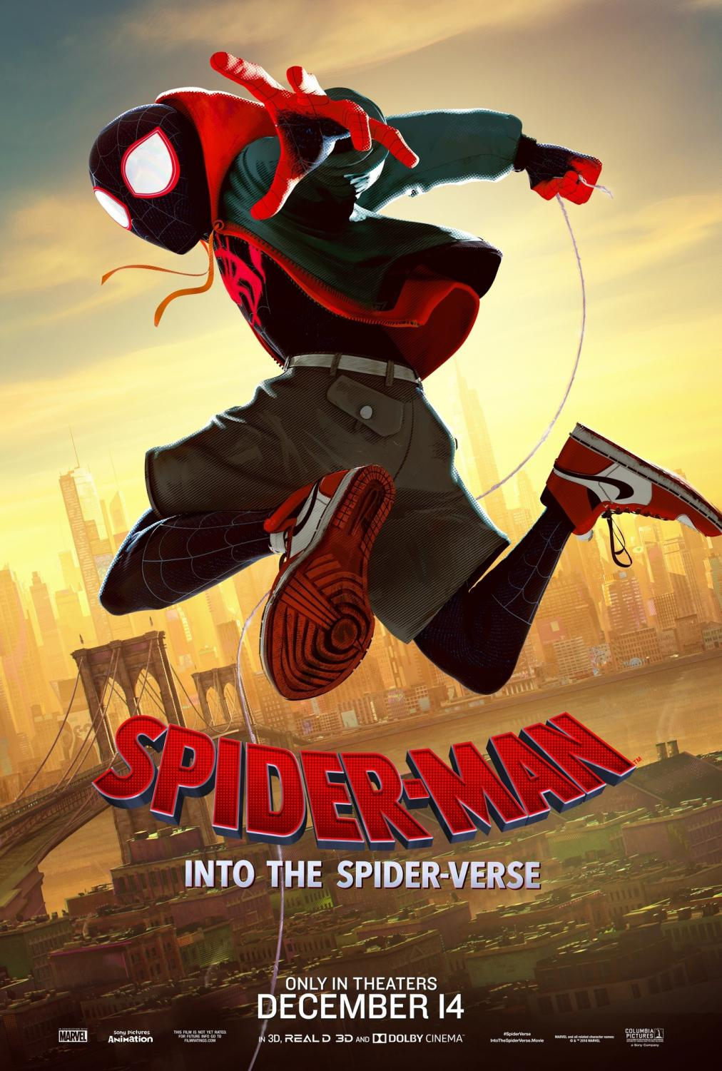 Poster for Spider-Man: Into the Spiderverse ( Sony Pictures Animations)
