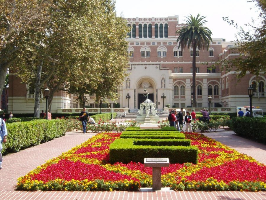 Campus library at the University of Southern California.