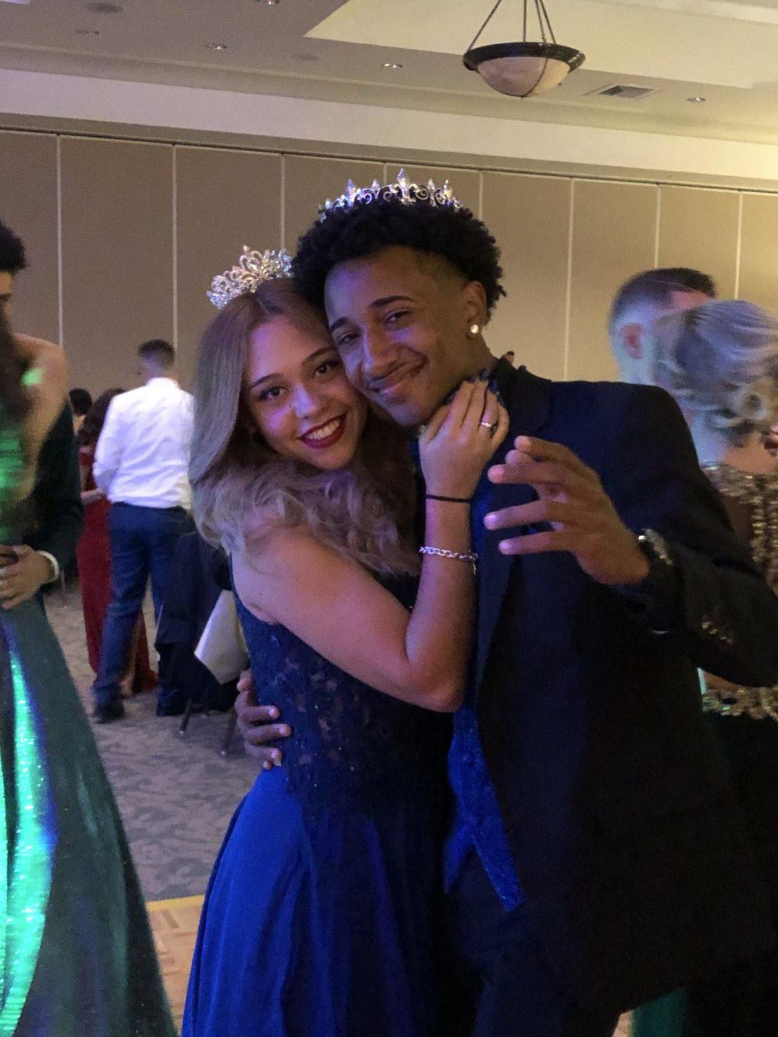 Prom King and Queen Keanne Hiraldo and Jessica Ortiz take the dance floor together one final time.