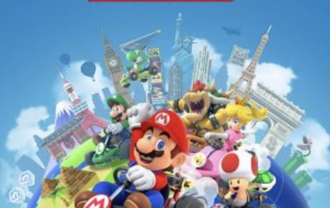 Poster art for the new mobile Mario Kart