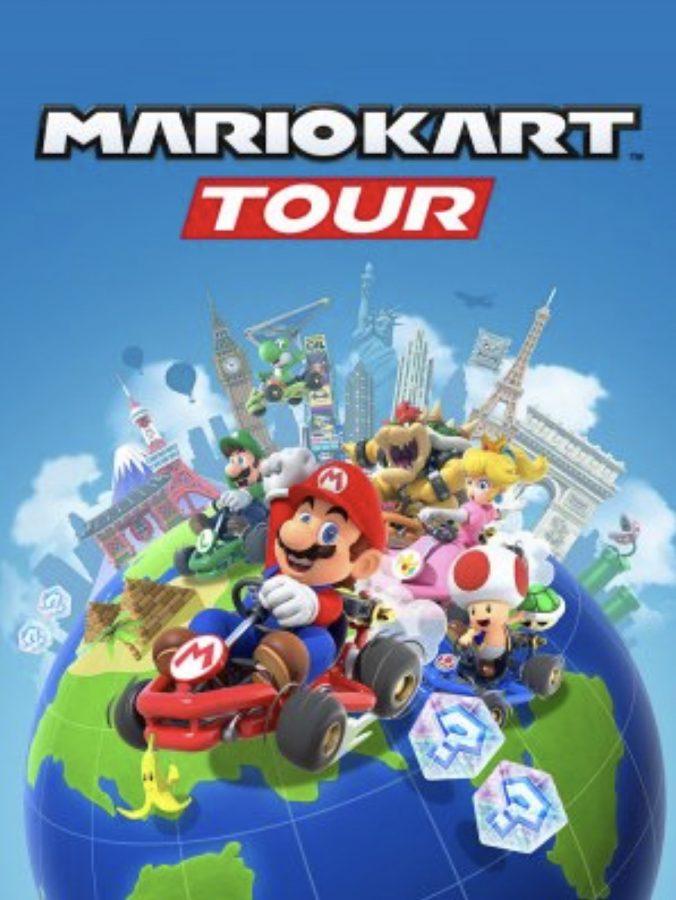 Poster art for the new mobile Mario Kart