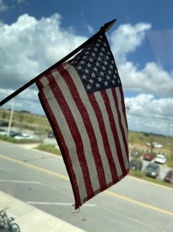 A photo of the American flag.
