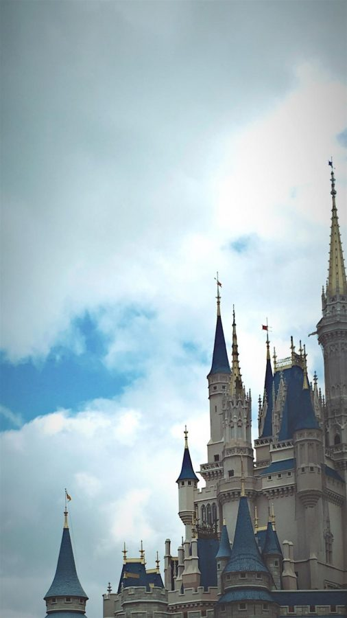 Disney+castle+at+Magic+Kingdom.+