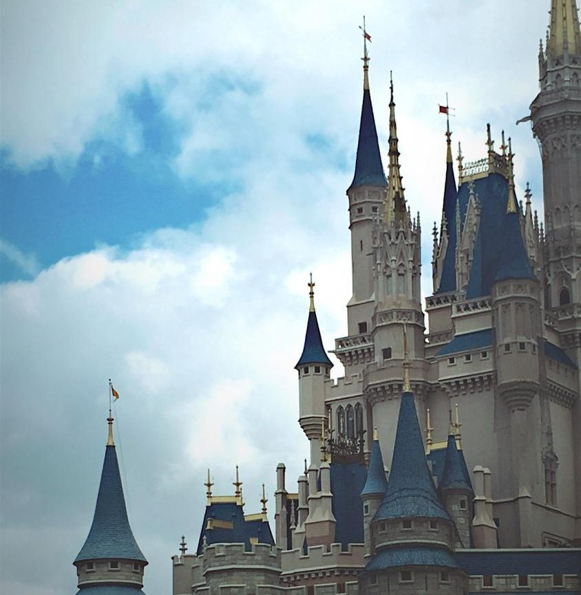 Disney castle at Magic Kingdom.