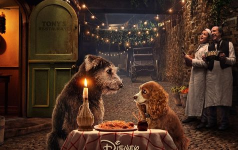 Movie poster 2019 rendition for 'Lady and the Tramp'.