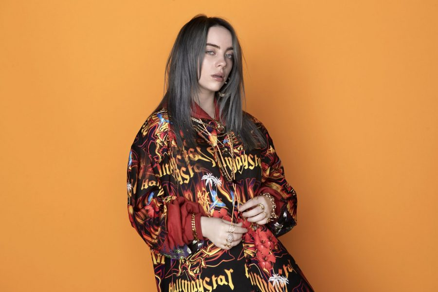 Billie Eilish poses for interview.