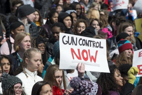 """Earlier March For Our Lives Protest. """"March For Our Lives student protest for gun control"""" by Fibonacci Blue is licensed under CC BY 2.0"""