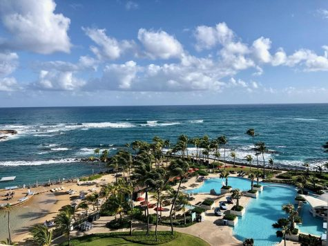 Freshman Erin Foleys view from her hotel room in Puerto Rico. Photo provided by Erin Foley.