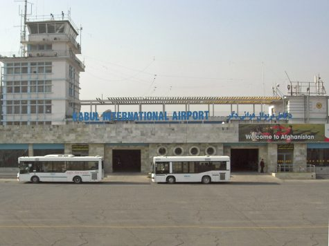 Kabul Airport was the stage for the first act of terrorism following the removal of American troops from Afghanistan. Credit: Welcome to Afghanistan, Kabul Airport by Carl Montgomery is licensed under CC BY 2.0